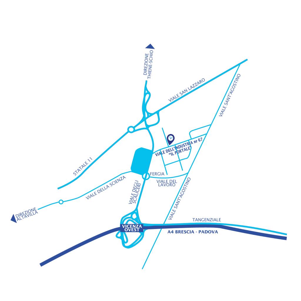 mappa indirizzo studio radiologico san lazzaro vicenza